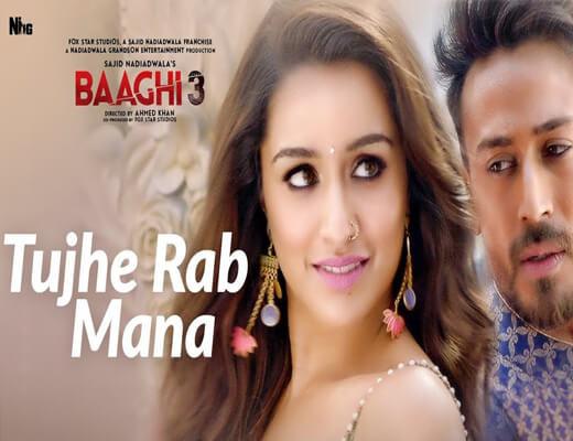 Tujhe-Rab-Mana---Baaghi-3---Lyrics-In-Hindi