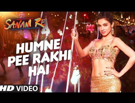 Humne Pee Rakhi Hai Hindi Lyrics - Sanam Re