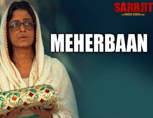 Meherbaan Hindi Lyrics - Sarbjit