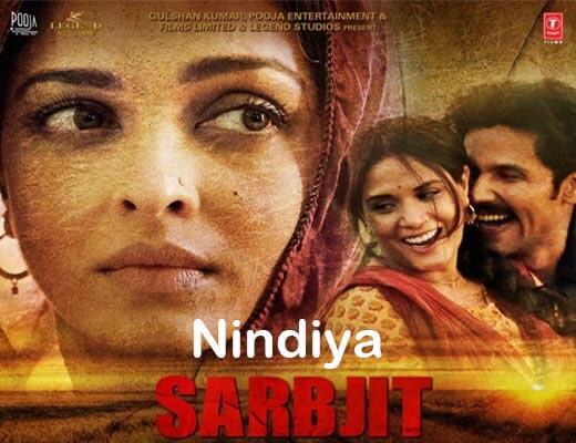 Nindiya Hindi Lyrics – Sarbjit