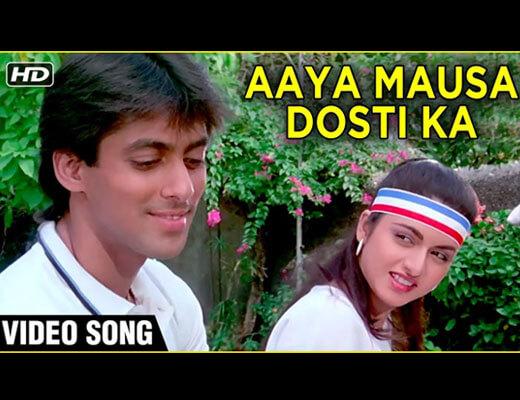 Aaya Mausam Dosti Ka Hindi Lyrics - Maine Pyar Kiya (1989)