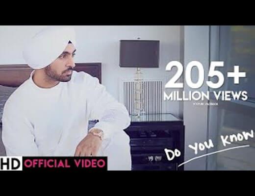 Do You Know Hindi Lyrics - Diljit Dosanjh